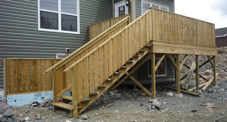 patios with stairs and ramps